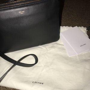 Black Celine Trio Crossbody Bag